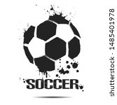 soccer ball icon. abstract... | Shutterstock .eps vector #1485401978