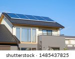 House With Solar Panels In Japan