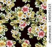 flower print. elegance seamless ...   Shutterstock . vector #1485451625