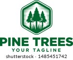 pine tree nature wood forest   Shutterstock .eps vector #1485451742