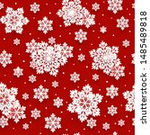 seamless pattern with paper... | Shutterstock .eps vector #1485489818