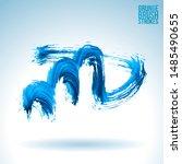 blue brush stroke and texture.... | Shutterstock .eps vector #1485490655