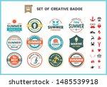 vintage retro vector for banner ... | Shutterstock .eps vector #1485539918