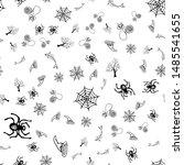 halloween doodle seamless... | Shutterstock .eps vector #1485541655