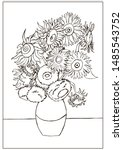 """Coloring Page With """"still Life..."""
