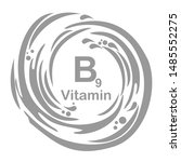 vitamin b9  folate . food... | Shutterstock . vector #1485552275