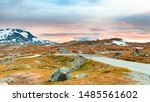 road through mountains... | Shutterstock . vector #1485561602