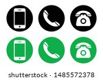 phone icon vector. set of flat... | Shutterstock .eps vector #1485572378