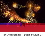 merry christmas and happy new... | Shutterstock .eps vector #1485592352