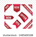 new collection sale tags. 3d... | Shutterstock .eps vector #1485600188