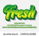 modern alphabet with fresh... | Shutterstock .eps vector #1485616088