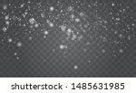 vector heavy snowfall ... | Shutterstock .eps vector #1485631985