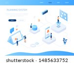 planning system   modern... | Shutterstock .eps vector #1485633752