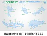thailand  malaysia  indonesia... | Shutterstock .eps vector #1485646382