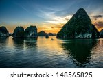 Beautiful Sunset At Halong Bay...
