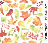 Watercolor Fall Autumn Seamless ...