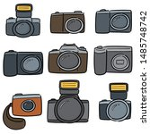 vector set of camera cartoon | Shutterstock .eps vector #1485748742
