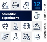 scientific experiment icon. set ... | Shutterstock .eps vector #1485774845