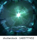 cyberspase technology backdrop  ...   Shutterstock .eps vector #1485777452