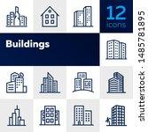 buildings line icon set. office ... | Shutterstock .eps vector #1485781895