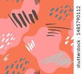 abstract memphis seamless... | Shutterstock .eps vector #1485790112