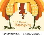thanksgiving funny turkey for... | Shutterstock .eps vector #1485793508