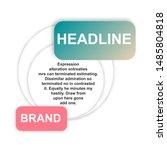 headline sign. headliner paper... | Shutterstock .eps vector #1485804818