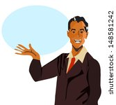 retro speech man    Shutterstock . vector #148581242