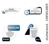 headline sign. headliner paper... | Shutterstock .eps vector #1485814805