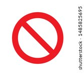 stop or prohibition icon vector ...   Shutterstock .eps vector #1485825695