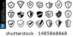 hand drawn security shields...   Shutterstock .eps vector #1485868868