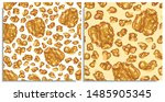 vector seamless pattern with... | Shutterstock .eps vector #1485905345