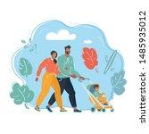 vector cartoon illustration of... | Shutterstock .eps vector #1485935012
