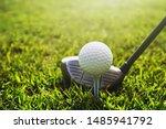 closeup golf club and golf ball ...   Shutterstock . vector #1485941792