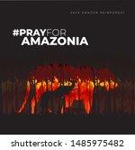 "Poster ""pray For Amazonia""..."