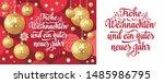 Red Christmas German Christmas.Xmas. Weihnachten. Noel.Christmas in different languages. German Christmas Deutsche holiday Weihnachtsfest - Frohe Weihnachten, neue Jahr, Neujahrstag.3d gold realistic