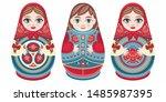 russian nesting dolls...   Shutterstock .eps vector #1485987395