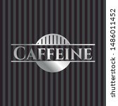 caffeine silvery badge or...   Shutterstock .eps vector #1486011452