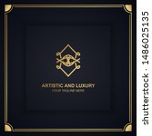 artistic and luxury logo. can... | Shutterstock .eps vector #1486025135