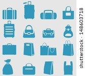 bag icons set.vector  | Shutterstock .eps vector #148603718