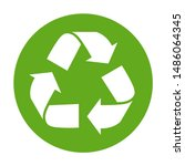 simple green recycling symbol... | Shutterstock .eps vector #1486064345