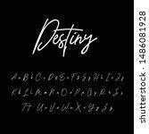best alphabet signature font... | Shutterstock .eps vector #1486081928