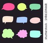 set of colorful bubbles speech...   Shutterstock .eps vector #1486104668