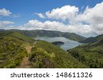 lake in a volcanic crater in... | Shutterstock . vector #148611326