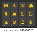 Security icons. Vector illustration.