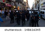 istanbul   august 03  riot... | Shutterstock . vector #148616345