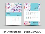 june 2020 template  desk... | Shutterstock .eps vector #1486239302