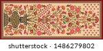 decorative mughal motif  stole... | Shutterstock .eps vector #1486279802