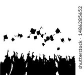 graduation celebration vector... | Shutterstock .eps vector #1486285652