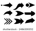 set of black arrow. vector flat ...